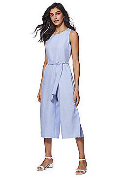 Mela London Striped Culotte Jumpsuit - Blue