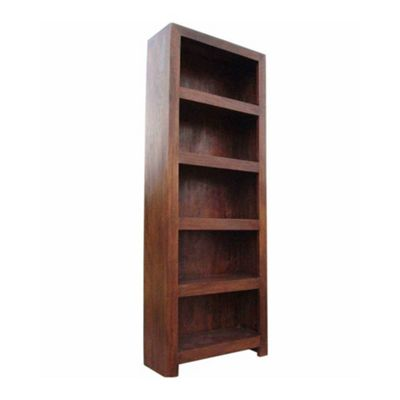 Homescapes Dakota Tall Bookcase Dark Shade