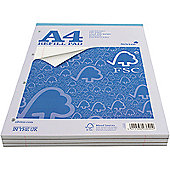 Silvine A4 Refill Pad 4-Hole 160 Pages Ruled Feint and Margin FSCRP80 (FMS)