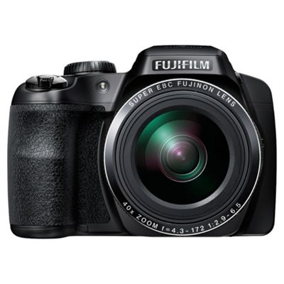 Fujifilm FinePix S8200 Digital Camera, Black, 16.2MP, 40x Optical Zoom, 3