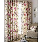 Riva Home Rosemoor Eyelet Curtains - Fuchsia