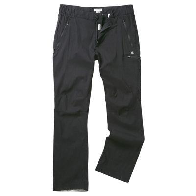 Craghoppers Mens Kiwi Pro Stretch Trousers Black 32 Regular Leg