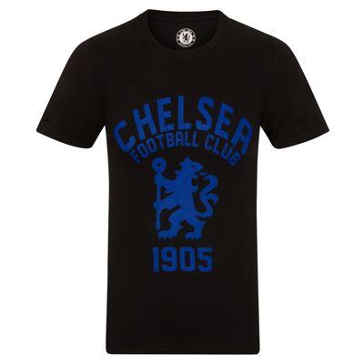 Chelsea FC Mens Graphic T-Shirt Black XXL