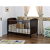 Obaby Grace Cot Bed and Sprung Mattress - Walnut