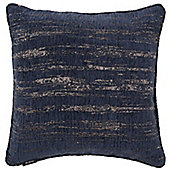 McAlister Navy Textured Chenille Cushion Cover - 43x43cm