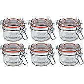 Argon Tableware Preserving / Jam Glass Storage Jars - 125ml - Pack of 6