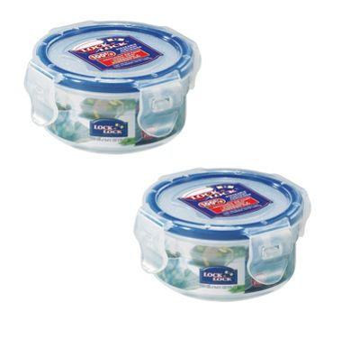 Lock & Lock 100ml Extra Small Round Storage Containers, Set of 2