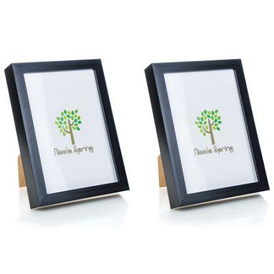 Nicola Spring Acrylic Box Photo Frame - Black - 6 x 8