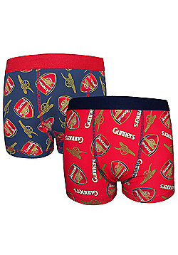 Arsenal FC Boys Boxer Shorts 2 Pack - Blue