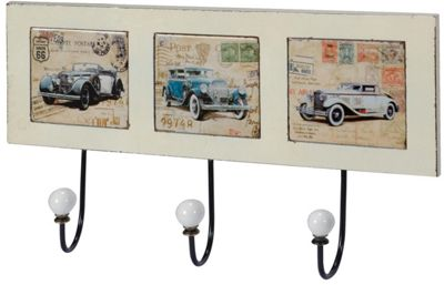 Vintage Cars Triple Wall Hooks