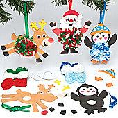 Crafts Christmas Hanging Pom Pom Kits (3 Pcs)