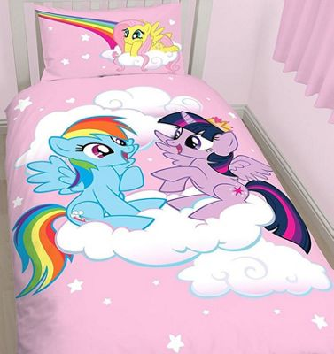 My Little Pony Equestria Bundle - Single Bedding, Curtains 72s, Cushion and Fleece Blanket