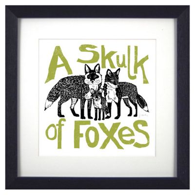 Animal Friends Framed Print - Foxes