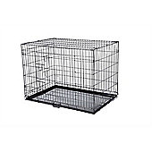 Hq Pet Dog Folding Crate Puppy Pet Carrier Training Cage Large