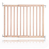 Safetots Chunky Wooden Screw Fit Stair Gate Natural 63.5cm - 105.5cm