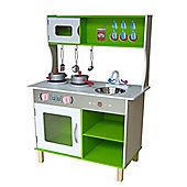 Kiddi Style Large Modern Wooden Kitchen With Accessories - Green