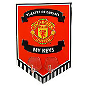 Manchester United FC Metal Key Hook Sign