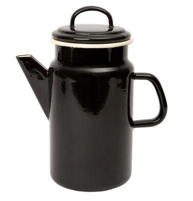 Dexam Vintage Home 2 Litre Enamel Coffee Pot, Black