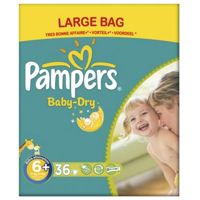 Pampers Baby Dry Size 6+ Large Pack - 36 nappies