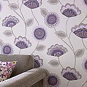 Superfresco Romany Floral Purple Wallpaper