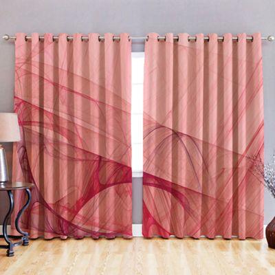 Flow 3D Print Blackout Fabric Eyelet Curtains 52