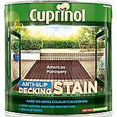 Cuprinol Anti Slip Decking Stain - American Mahogany - 2.5 Litre