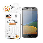 Orzly Glass Screen Protector for Moto G5 - Twin Pack