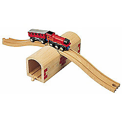 Over And Under Tunnel For Wooden Railway Train Set 50430 - Brio Compatible