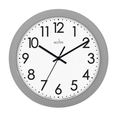 Acctim Abingdon Grey Wall Clock