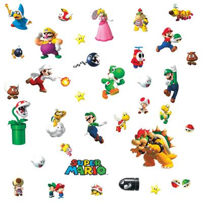 Childrens Wall Stickers - Super Mario Nintendo