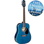 Stagg Dreadnought Acoustic Guitar - Blue