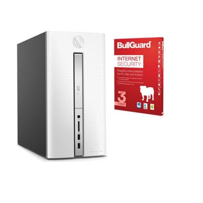 Certified Refurbished HP Pavilion 570-p059na Gaming Desktop PC Intel Core i5-7400 8GB 3TB+128GB SSD Windows 10 - 1AV56EA#ABU