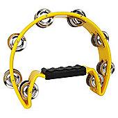 A-Star Cutaway Tambourine - Yellow