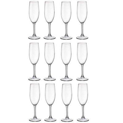 Duralex Amboise Champagne Flute Glasses - 170ml - x12