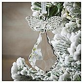 Weiste Glass Heart Angel Christmas Tree Decoration