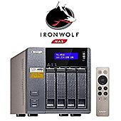 QNAP TS-453A-4G/4TB-IronWolf 4-Bay 4TB (4x1TB Seagate IronWolf) Network Attached Storage