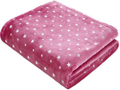 Catherine Lansfield Star Throw Pink