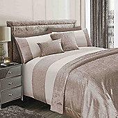 Sienna Velvet Glitter Duvet Cover with Pillowcase Sparkle Bedding Set - Gold