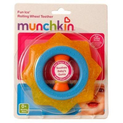 Munchkin Rolling Wheel Teether Blue and Orange