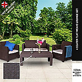Keter Limousine Rattan Style 4 Seater Garden Furniture Lounge Set - Includes Cushions