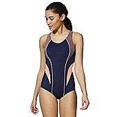 F&F Active Racerback Swimsuit - Navy & Orange