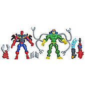 Marvel Super Hero Mashers Figures - Spider-Man vs Doc Ock