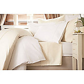 Belledorm 100% Crisp Cotton 600 Thread Count Fitted Sheet - White