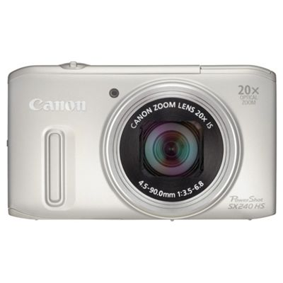 Canon PowerShot SX240 Digital Camera, Silver, 12.1MP, 20x Optical Zoom, 3.0 LCD Screen