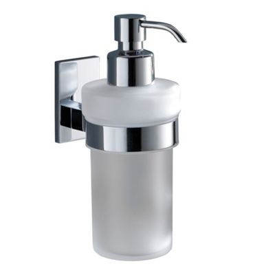 Gedy Maine Frosted Glass Soap Dispenser in Chrome
