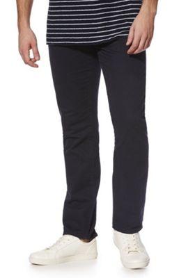 F&F 5 Pocket Straight Leg Chinos Navy 30 Waist 32 Leg