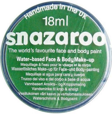 Snazaroo Face Paint 18ml Bright Green - Fancy Dress