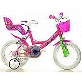 Trolls 14inch Balance Bike Pink - DINO Bikes