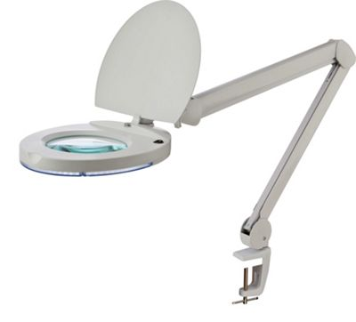 Firstlight Magnifying LED Lamp with Clamp in White