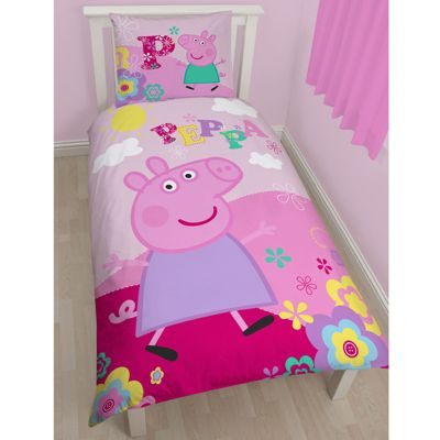 Buy Peppa Pig Adorable Single Cotton Duvet Cover and Pillowcase ... : peppa pig quilt cover - Adamdwight.com